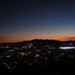 panorama in notturna