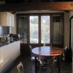 cucina con vista sul  panorama